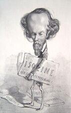 """FELICIEN ROPS Original 1856-58 Lithograph - """"Soubre"""""""