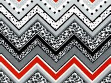 Floral Chevron Print Fabric Material