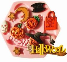 Spooky Halloween Silicone Mould For Sugarcraft Cake Toppers Trick Or Treat LH