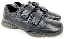 Prada Sport Size 38.5 Black Leather Velcro Sneakers Trainers Shoes