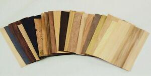 20 sheets Wooden veneers set ,  wood craft , marquetry