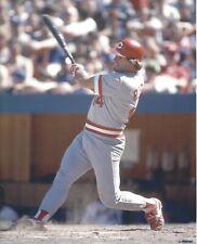 8x10 photo baseball Pete Rose, Cincinnati Reds follow thru #2