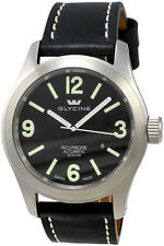 Glycine Men's 3874.19.LB9B Incursore Automatic 46mm Black Dial Black Leather