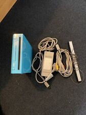Nintendo Wii Console Blue With All The Leads. Tested & Working