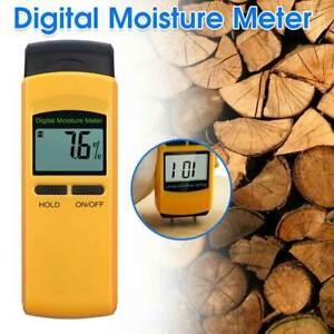 Digital LCD Damp Detector Moisture Meter Wood Wall Plaster Tester Supplies New
