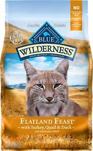 Blue Buffalo Blue Wilderness Flatland Feast Grain Free Turkey Dry Cat Food 10 lb