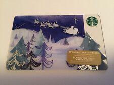 "Canada Series Starbucks ""SANTA'S SLEIGH 2016"" Holiday Gift Card - New No Value"