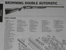 BROWNING DOUBLE AUTOMATIC SHOTGUN EXPLODED VIEW