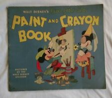 Vintage antique 1930's Disney Mickey mouse paint and crayon book unused