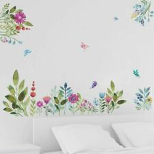 Colorful Spring Flower Wall Stickers TV Background Sofa Home Wall Mural Decal