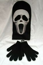 Halloween Full Face Scary Movie Black Tongue mask Ski Mask+Gloves costume-New!