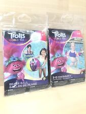 New Listing(2pack) Combo Dreamworks Trolls Beach Ball / Arm Floats Swimmies