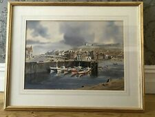 View of Whitby, watercolour by listed artist Donald B Crossley 1993