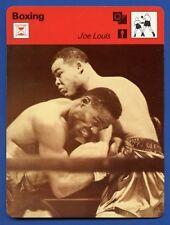 JOE LOUIS Boxing Champ vs Ezzard Charles 1978 SPORTSCASTER CARD 50-06  NM  Italy
