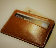 Leather Wallet Slim card holder pouch with RFID Protection  UK Seller