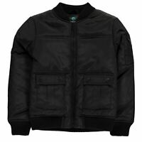 Firetrap Kids Boys Bomber Jacket Junior Midweight Coat Top Long Sleeve Zip Full