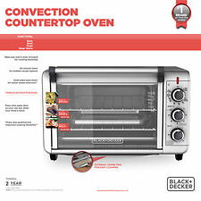 BLACK+DECKER 6-Slice Convection Countertop Toaster Oven, Silver