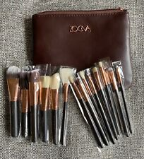 ZOEVA MAKEUP BRUSHES ROSE GOLD SET  New Complete + Clutch 💼