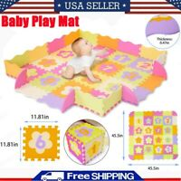 Baby Kids Play Mat Fence Interlock Number Foam Puzzle Mat Tools Toy Crawling Mat