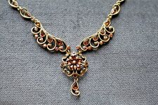 SWEET ROMANCE VINTAGE CRYSTAL STATEMENT NECKLACE *MADE IN USA*
