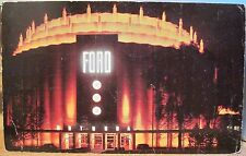 Michigan Postcard FORD ROTUNDA Schaefer Road Dearborn Detroit Hiawatha Co 1958