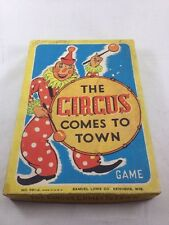 The Circus Comes to Town Game Vintage Board Game Samuel Lowe Co Kenosha Wis