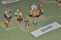 25mm medieval / mongol - camp followers (as photo) - baggage (29524)