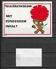 MATCHBOX LABELS-GERMANY. Neues Deutschland, packet size label, Riesa