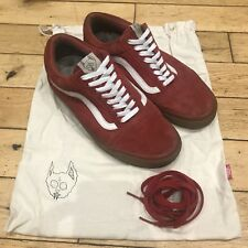 Golf Wang Vans Goma Rojo Talla 6.5 Reino Unido (sindicato/Odd Future)