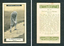 1925 IMPERIAL TOBACCO HOW TO PLAY GOLF #17 ARTHUR G. HAVERS