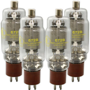 572B Penta Laboratories Power Triode Matched Quad (4) Tubes