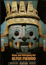 GERMAN small EXHIBITION POSTER 1987 - GLANCE AND DOWNFALL OF OLD MEXICO aztecs