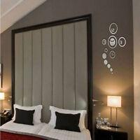 Stylish 3D Circle Digital Wall Clock Crystal Mirror Home Living Room Decoration