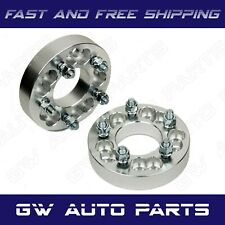 """2 PCs 1.5"""" WHEEL SPACER ADAPTERS 5X5 or 5X5.5 TO 5X135 CB 87mm Studs 1/2""""-20"""