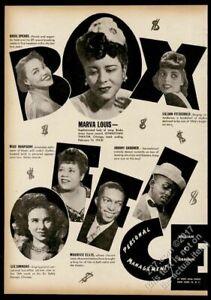 1945 Miss Rhapsody Marva Louis Basil Spears photo music trade booking ad