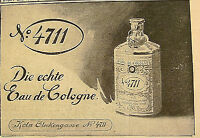 4711 Eau de Cologne Ferdinand Mühlens Köln Originalreklame Anzeige von 1905