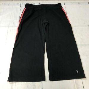 Danskin Now Women Active Capri Crop Pants Size Small 4/6 Black A244 -7