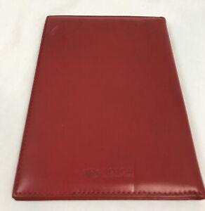 "Bosca Scarlet Red Leather Nappa Vitello Bi-Fold Photo Portfolio 4.5"" x 6.5"" New"