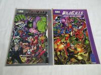 Image Comics WILDCATS Sourcebook #1 (Embossed Foil Cover) + #2 VF/NM 1993
