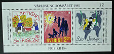 Timbre SUÈDE / Stamp SWEDEN Yvert et Tellier n°1333 à 1335 (Bloc13) n** (cyn9)