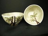 Tabletops Bahamas Palm Cereal Bowls  (set of 2)  ..