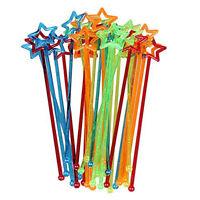 Mixed-color Plastic Star Design Cocktail Drink Stirrers Swizzle Stick (30pcs) DT