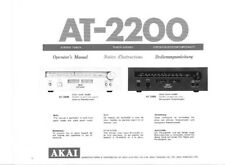 Akai AT-2200 Tuner Owners Instruction Manual