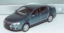 RARE VW PASSAT B6 3C 2.0 TDI SEL ARCTIC BLUE SALOON 1:87 WIKING (DEALER MODEL)