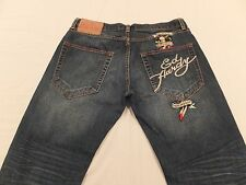 Ed Hardy by Christian Audigier 34 x 28 1/2 Death Before Dishonor Men's Jeans