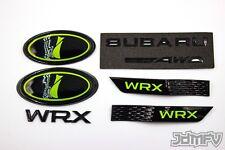 LIME GREEN F/R EMBLEMS, TRUNK, GARNISH,JDM I Badge AWD - 15-20 W R X