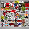 100Pcs Stickers Lot Rock Band Punk Music Heavy Metal Bands Laptop Car Bumper JT