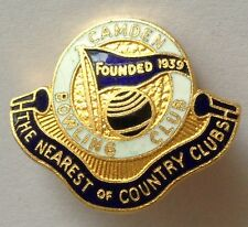 Camden Bowling Club Badge The Nearest Of Country Clubs Rare Vintage (M9)