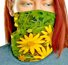 Neck gaiter: Screaming Yellow Posies from original photo Protect yourself Style
