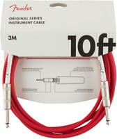 Genuine Fender Original Series Instrument/Guitar Cable, FIESTA RED, 10' ft